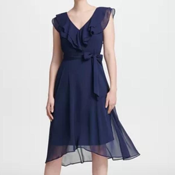 Dkny Dresses & Skirts - NWT DKNY Ruffle  V-neck dress size 8
